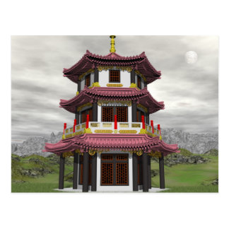 Pagoda in nature - 3D render Postcard
