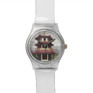 Pagoda in nature - 3D render Wrist Watches