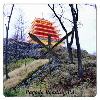 Pagoda Reading,PA Square Wall Clock