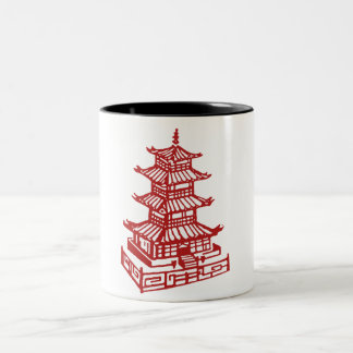 pagoda Two-Tone coffee mug
