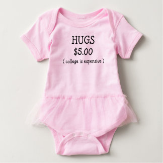 PAID HUGS FOR COLLEGE BABY BODYSUIT