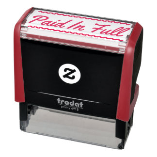"""Paid In Full"" Rubber Stamp"