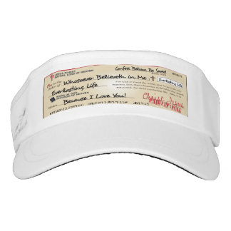 Paid in Full Saved by Jesus Check Christian Visor