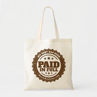 """""""Paid in Full"""" Tote Budget Tote Bag"""