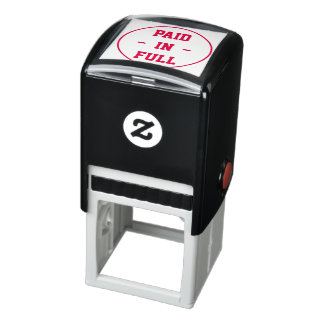 """PAID IN FULL"" Within a Circle Outline Self-inking Stamp"