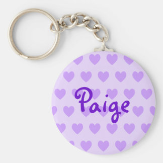 Paige in Purple Basic Round Button Key Ring