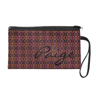 Paige Multicolored Pattern Bagettes Wristlet Bag