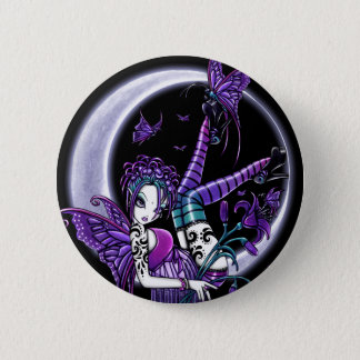 """Paige"" Rainbow Butterfly Moon Fairy Button"