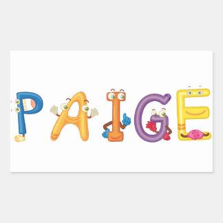 Paige Sticker