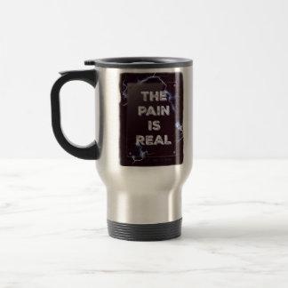 PAIN IS REAL travel mug
