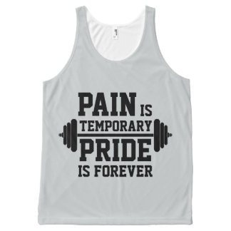 PAIN is temporary, PRIDE is forever All-Over Print Singlet