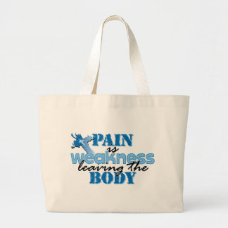 Pain is Weakness leaving the body Canvas Bags