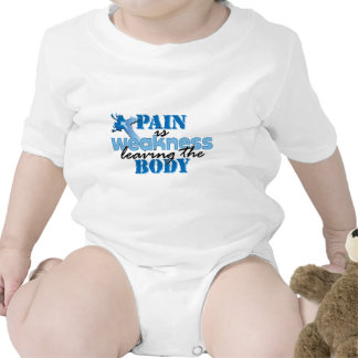 Pain is Weakness leaving the body Bodysuits