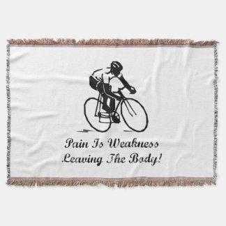 Pain Is Weakness Throw Blanket