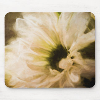 Pained White Daisy Mouse Pad