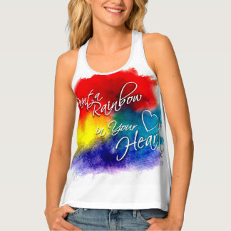 Paint a Rainbow in your Heart Singlet
