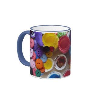 Paint and Buttons - Artist's Mug
