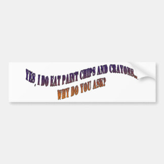 Paint and Crayons Bumper Stickers