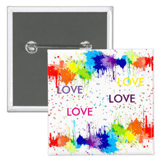 PAINT AND LOVE 15 CM SQUARE BADGE