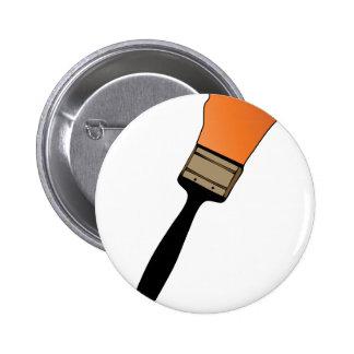Paint Brush 6 Cm Round Badge