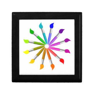 Paint Brush Color Wheel, Art Teacher color theory Gift Box
