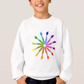 Paint Brush Color Wheel, Art Teacher color theory Sweatshirt
