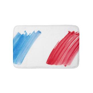 Paint Brush Flag of France Bath Mat