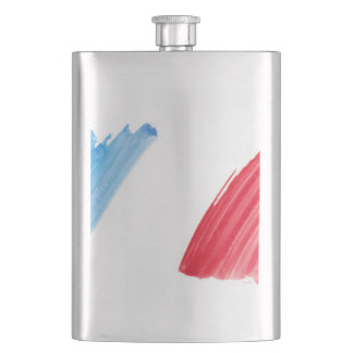 Paint Brush Flag of France Flask
