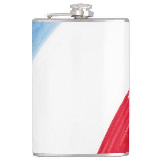 Paint Brush Flag of France Flasks