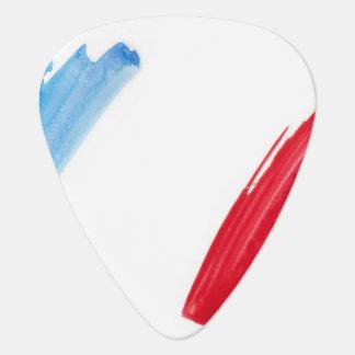 Paint Brush Flag of France Guitar Pick