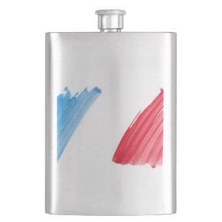 Paint Brush Flag of France Hip Flask