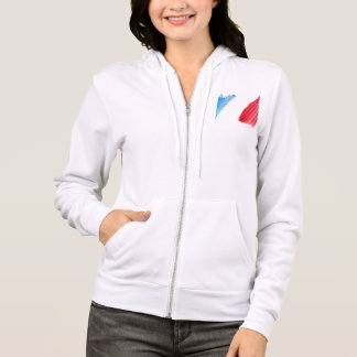 Paint Brush Flag of France Hoodie