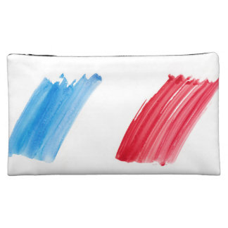 Paint Brush Flag of France Makeup Bags