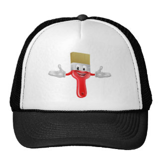 Paint brush mascot mesh hat