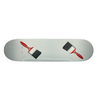 Paint brush skate board