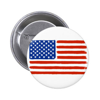 Paint Brush US Flag Button