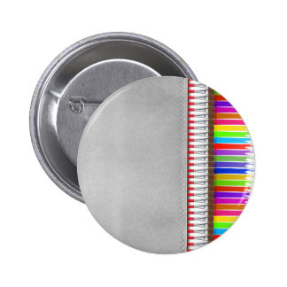 Paint Brushes 6 Cm Round Badge