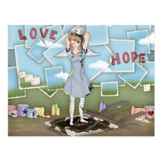 Paint Bucket Anime Angel Artwork Postcard