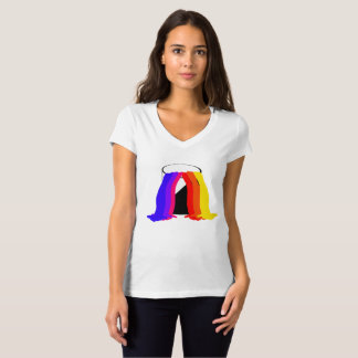 Paint Bucket Spilling Vibrant Colors Cool Fun T-Shirt