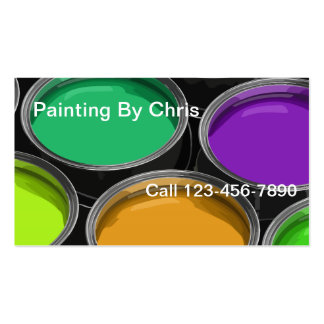 Paint Cans Painter Business Cards