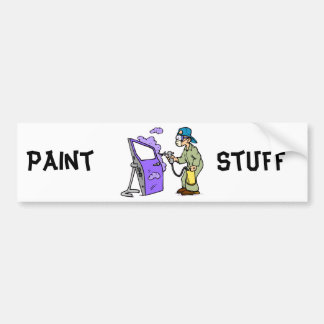 Paint Cars Bumper Stickers