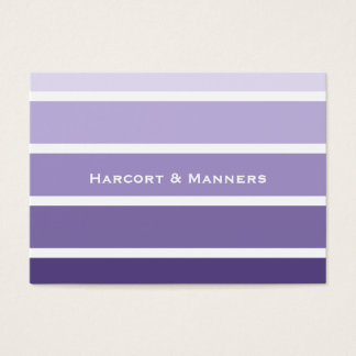Paint Chip Style Purple Stripes Business Card