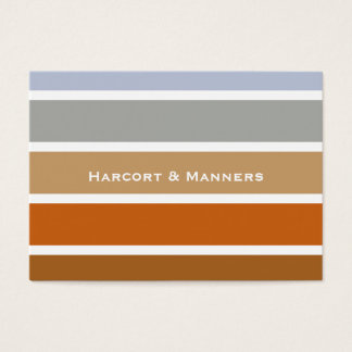 Paint Chip Style Stripes Copper to Grey Business Card