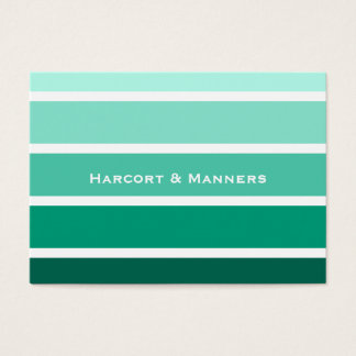 Paint CHip Style Stripes Green Business Card