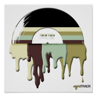 paint drip RECORD poster