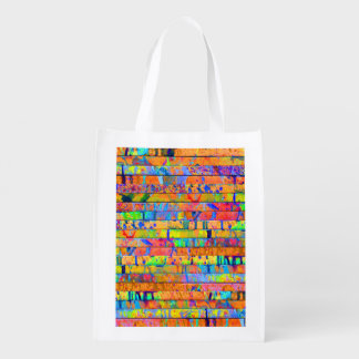Paint Drips Grocery Bags