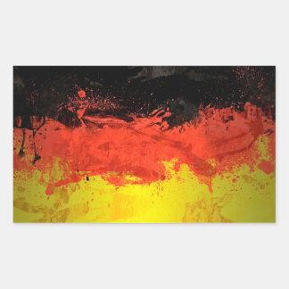 Paint Germany Flag Rectangular Sticker