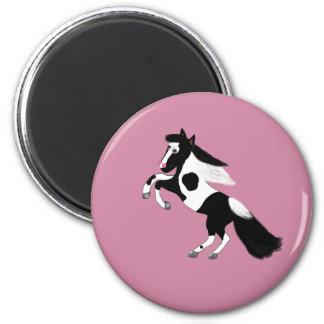 Paint Horse 6 Cm Round Magnet