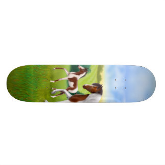 Paint Horse and Foal Skateboard