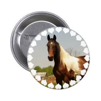 Paint Horse Button
